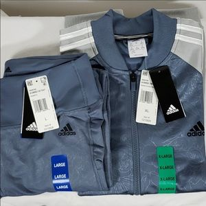 ADIDAS TRACK SUIT, TOP IS XL. PANTS Are LG